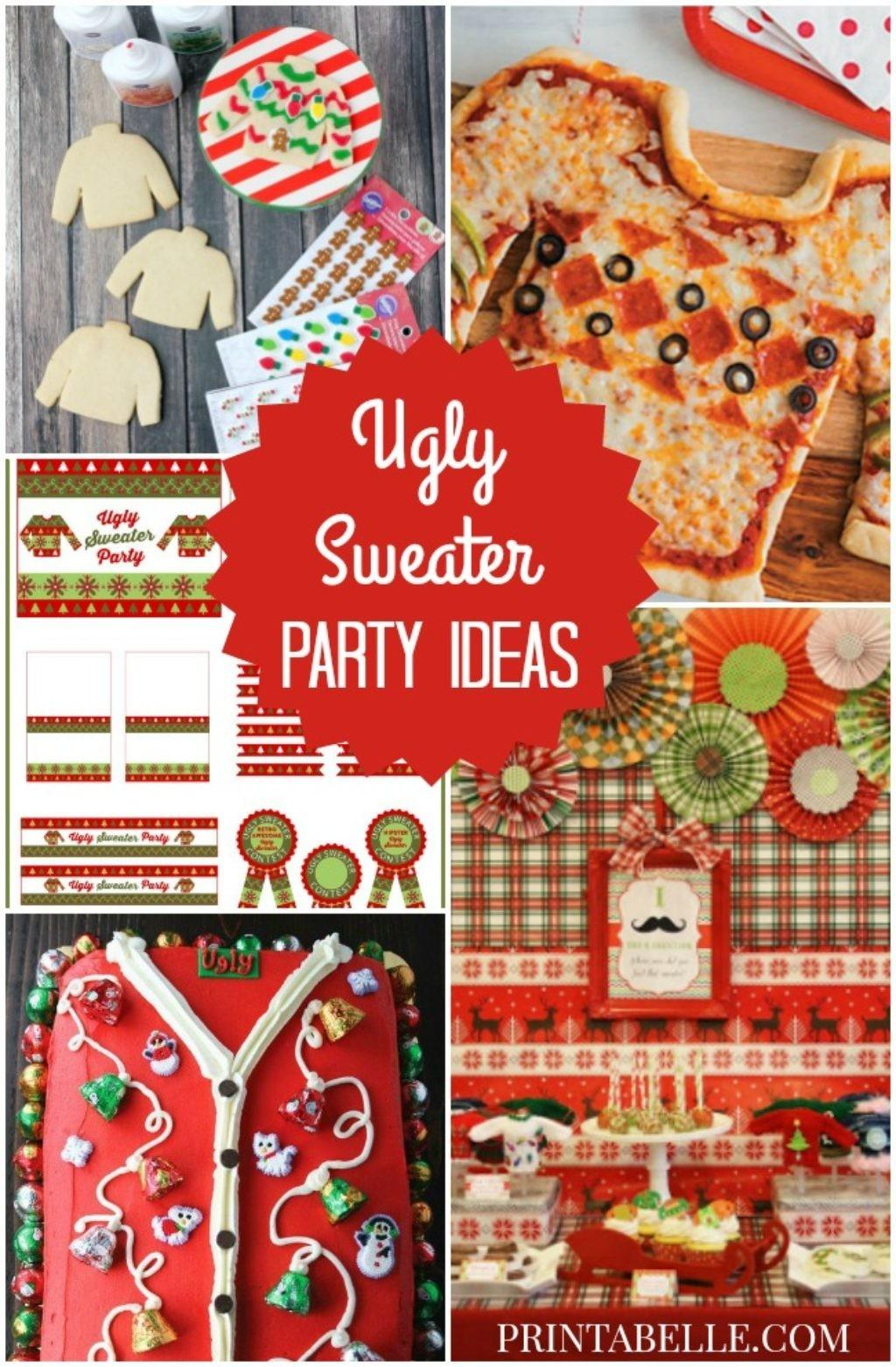 Christmas Ugly Sweater Party Ideas Printables Games