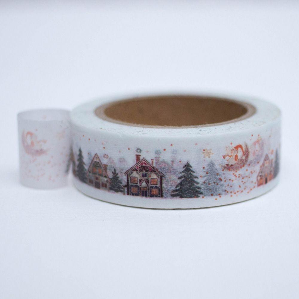 Christmas Village Winter Scene Washi Tape 10m Xmas Craft