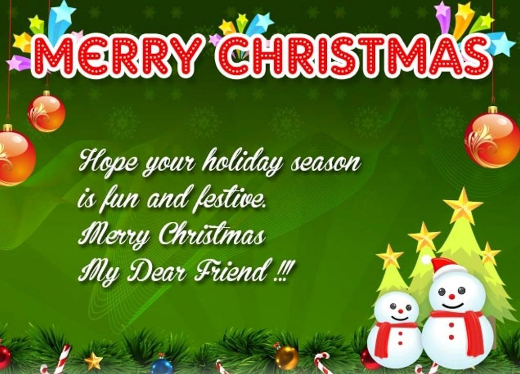 Christmas Wishes Friend Greetings