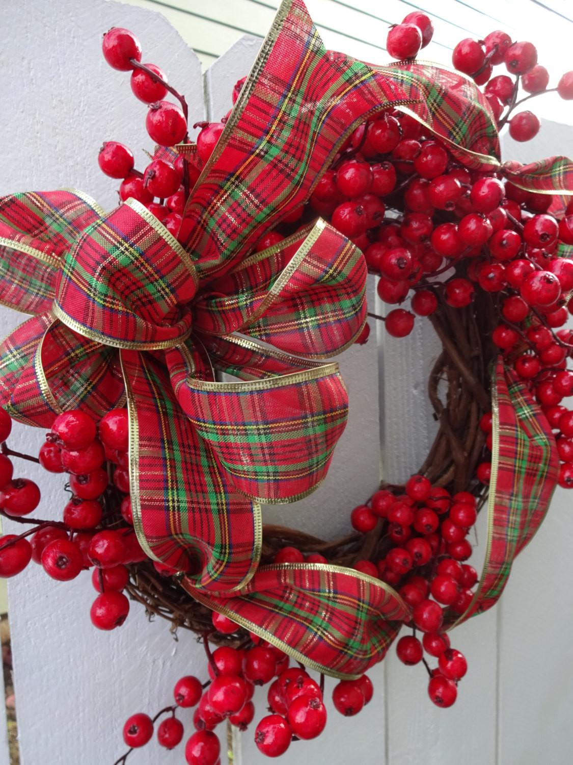 Christmas Wreath Red Berry Country
