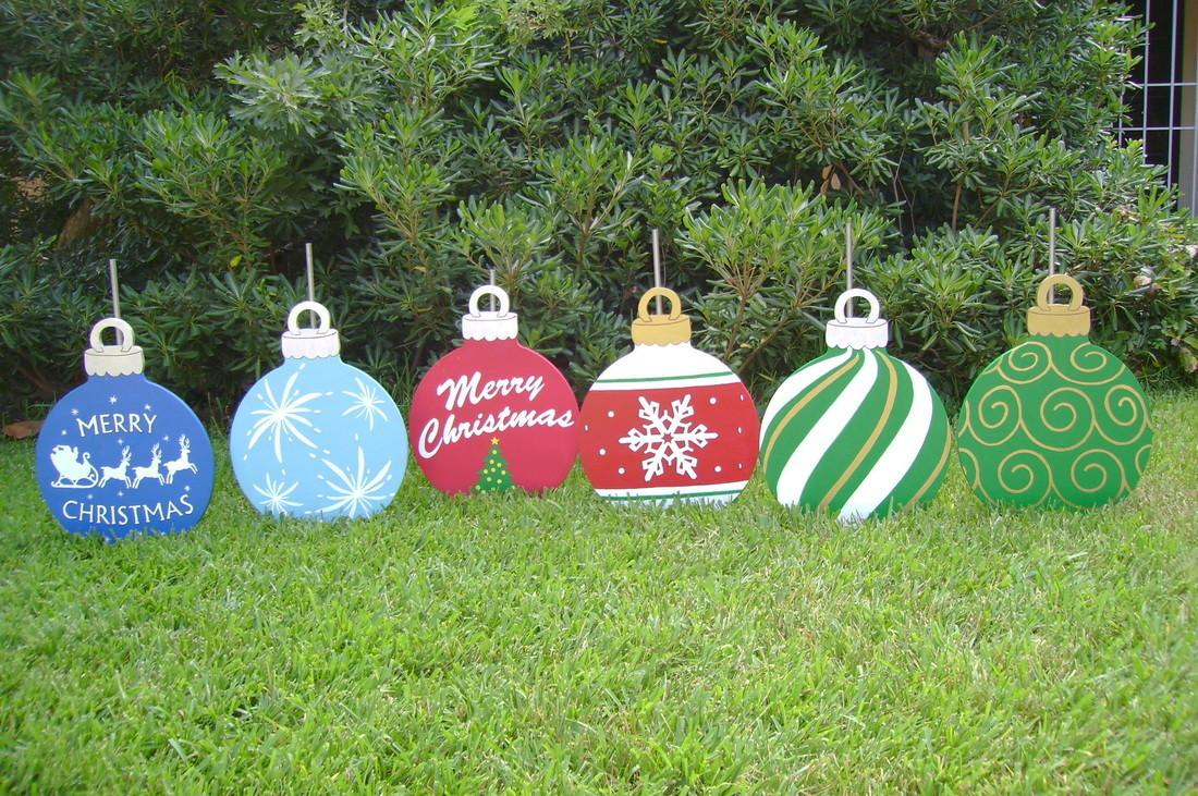 Christmas Yard Ornaments Holiday Art Made