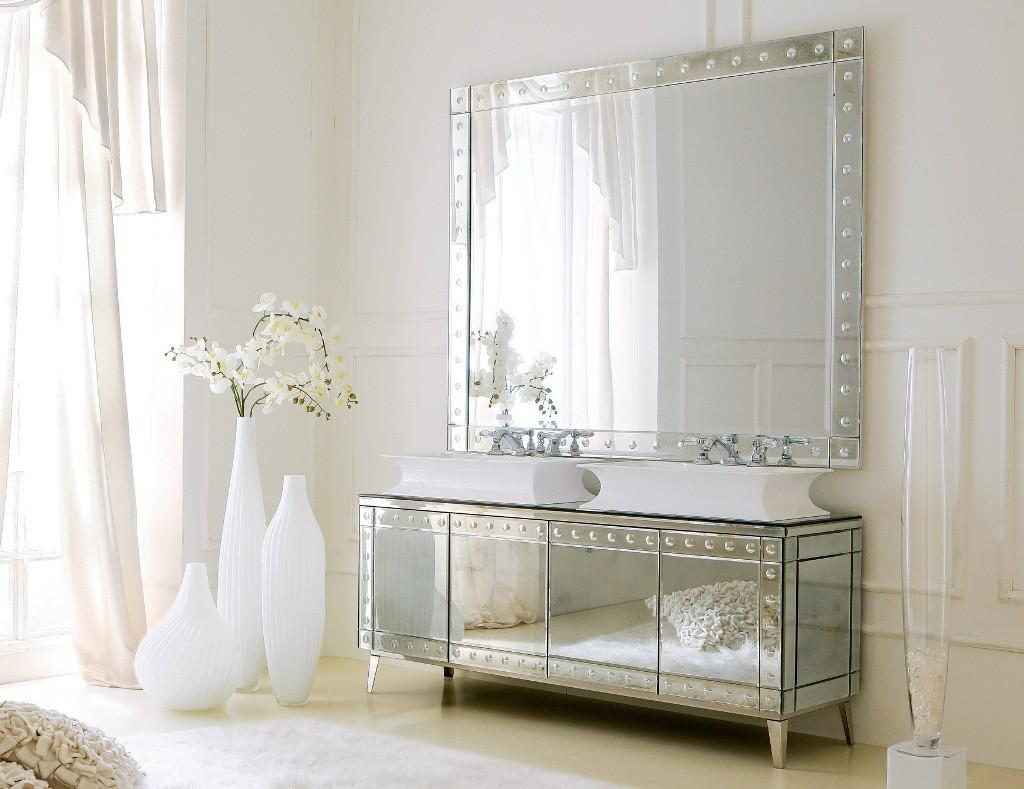 Chrome Framed Bathroom Mirror Design Custom Diy