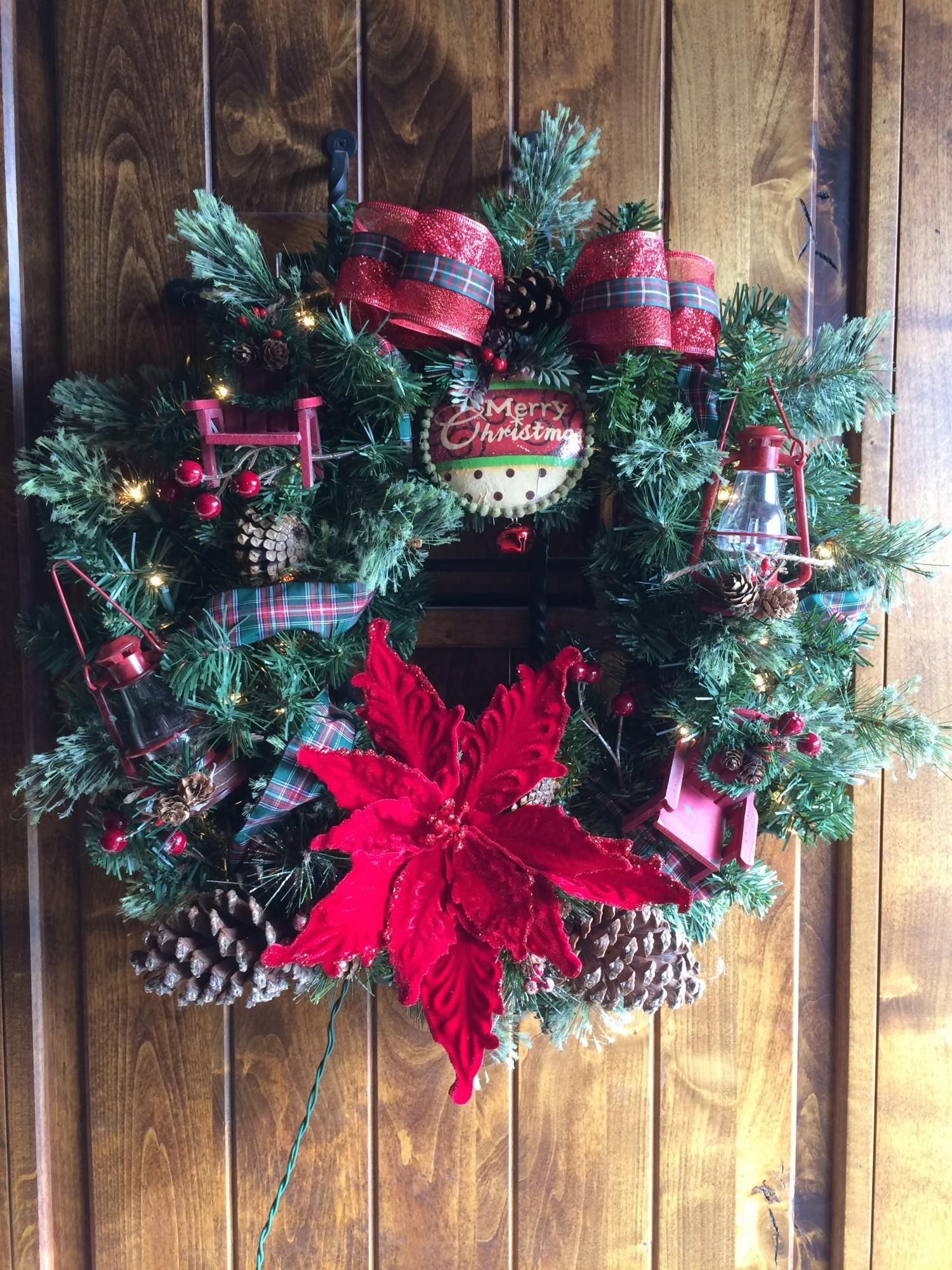Chronic Angels Country Red Christmas Wreath