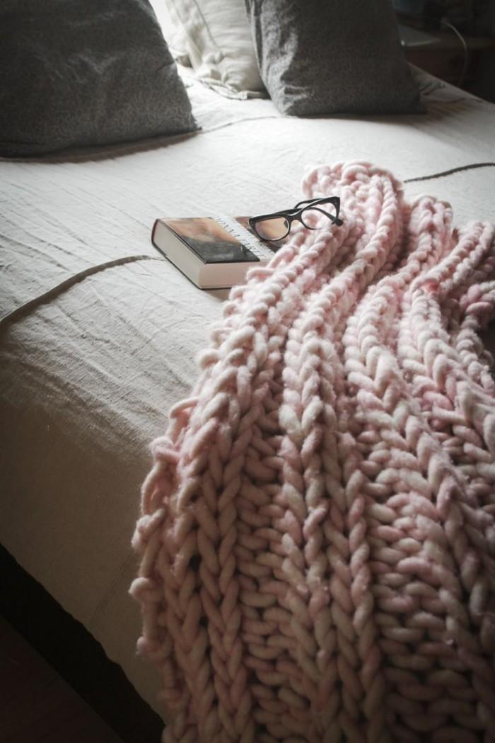 Chunky Knit Throw Blanket Bedding Home Decorating