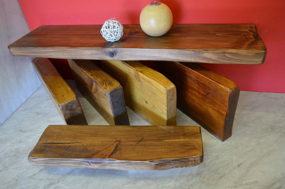 Chunky Solid Reclaimed Wood Floating Shelf Rustic