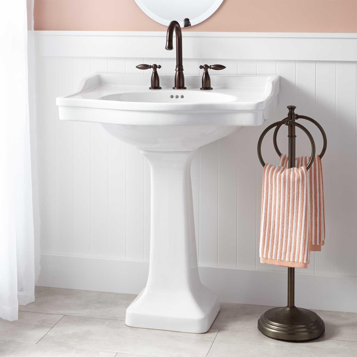 Cierra Large Porcelain Pedestal Sink Sinks