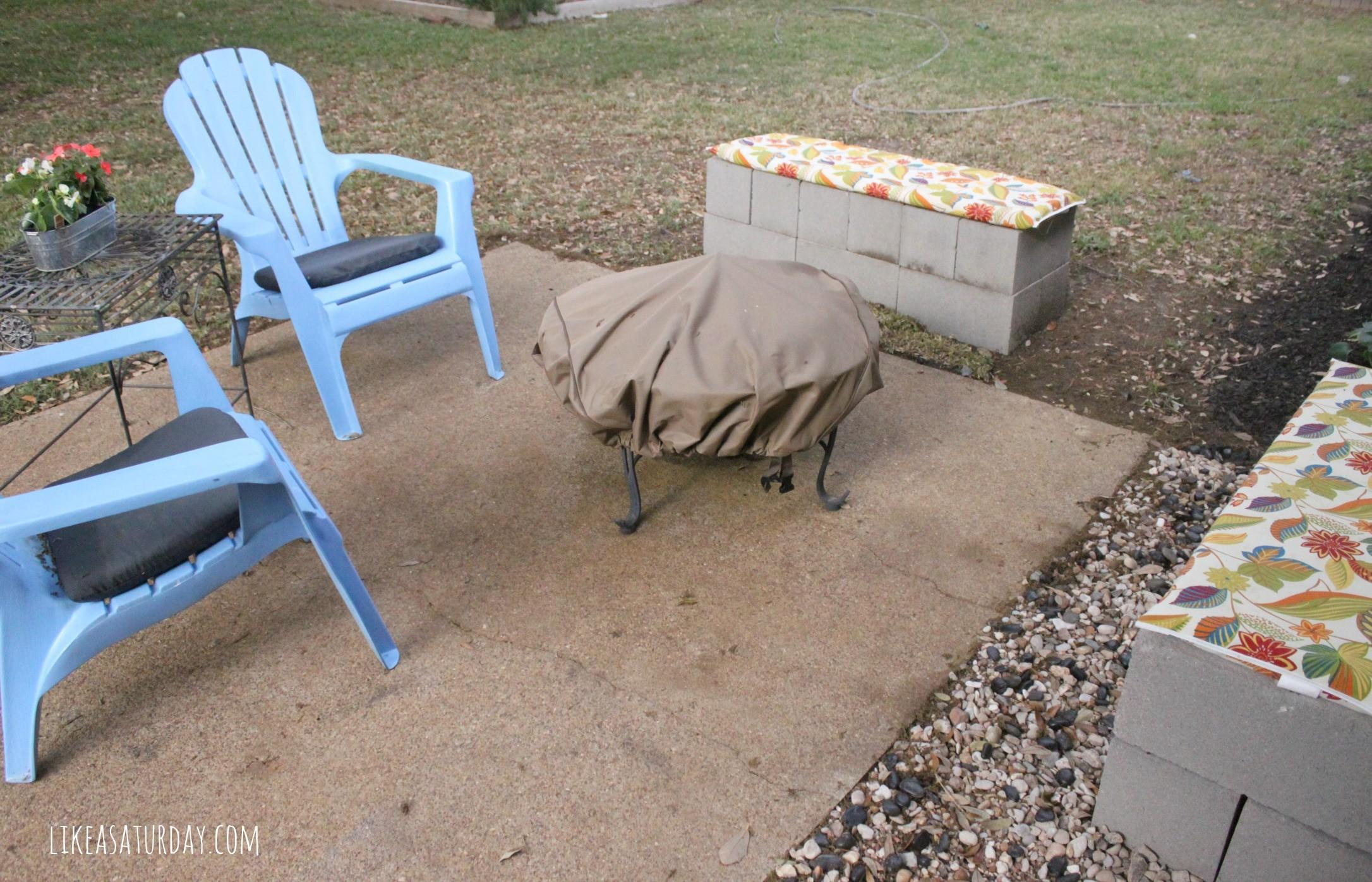 Cinder Block Bench Back 8646