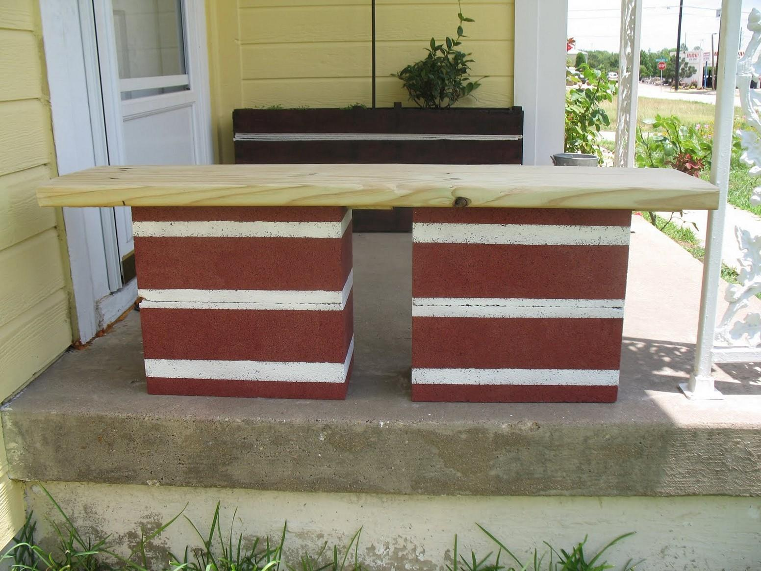 Cinder Block Bench Your Home Outdoor Beauty