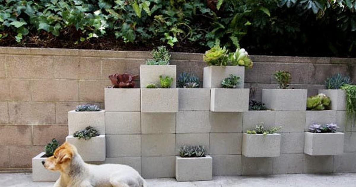 Cinderblock Planter Wall Yes Please Curbly