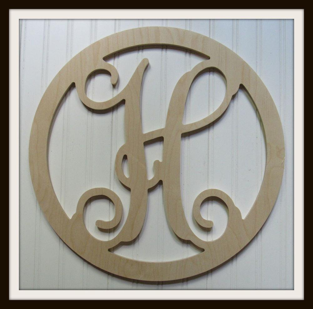 Circle Wooden Vine Letter Unfinished Wood Letters Room