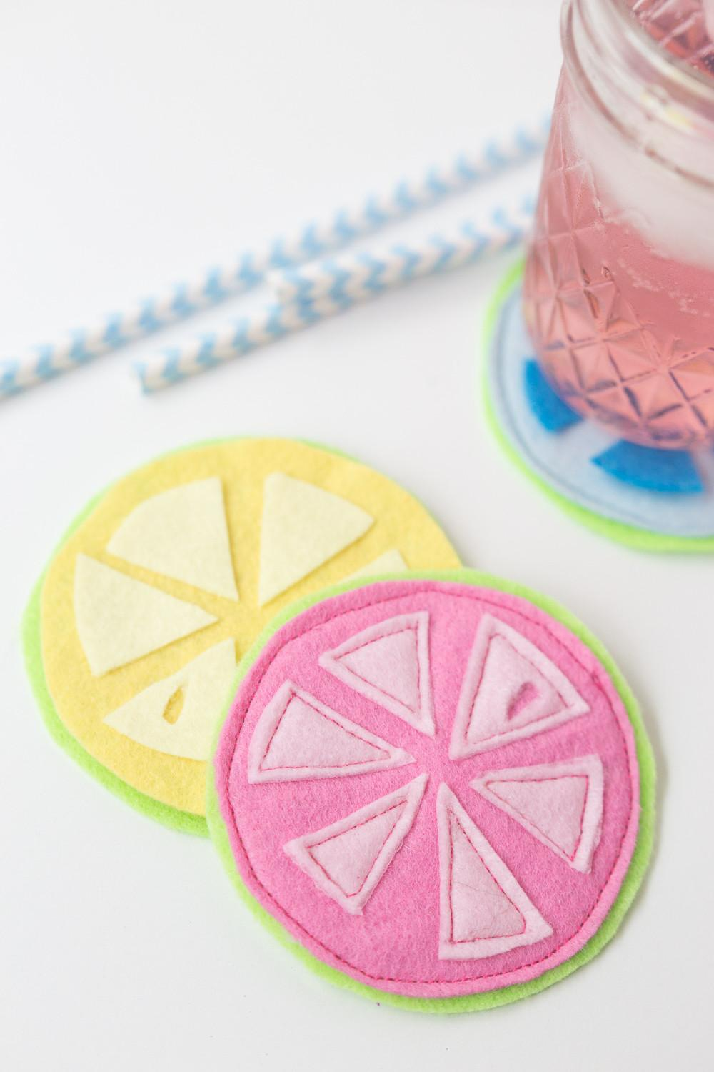 Citrus Coasters Heart Nap Time