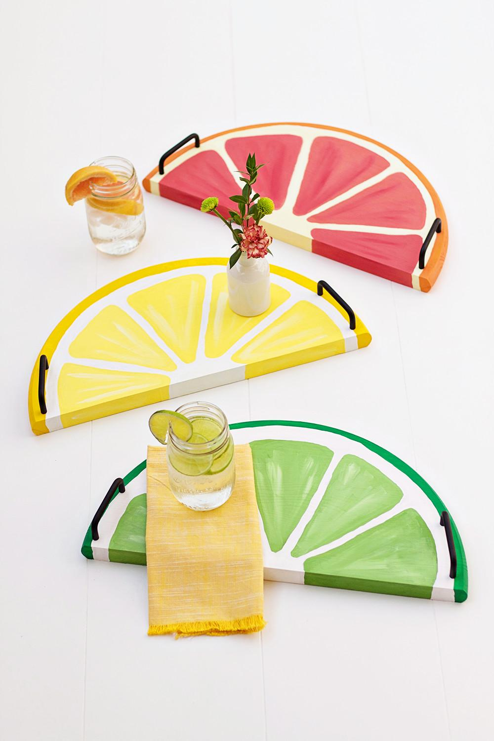 Citrus Fruit Serving Trays Easy Diy Perfect