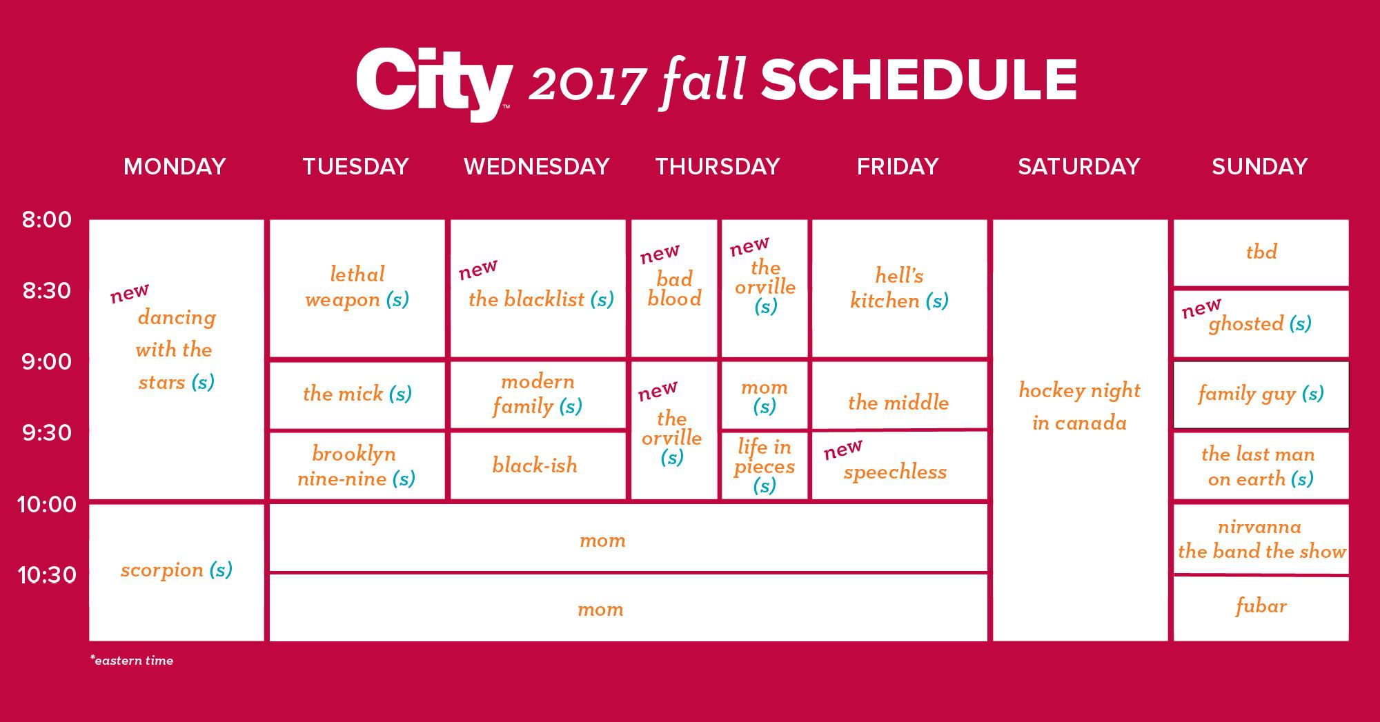 City Fall Preview Toronto Watch