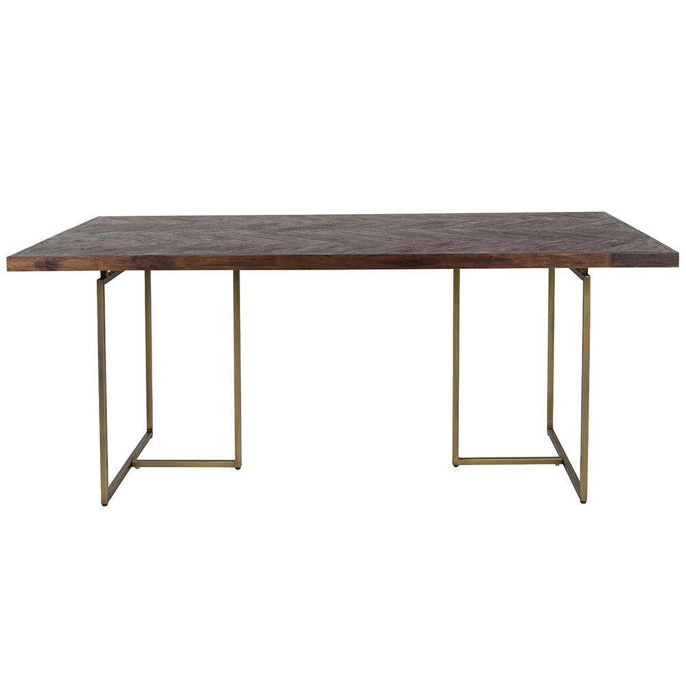 Class Dining Table Retro Herringbone Design
