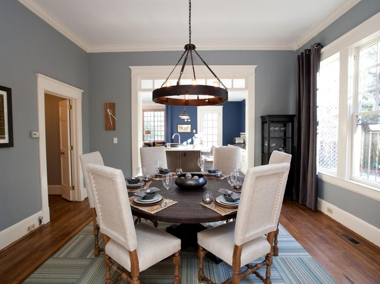 Classic Blue Grey Dining Rooms Room Purple Paint