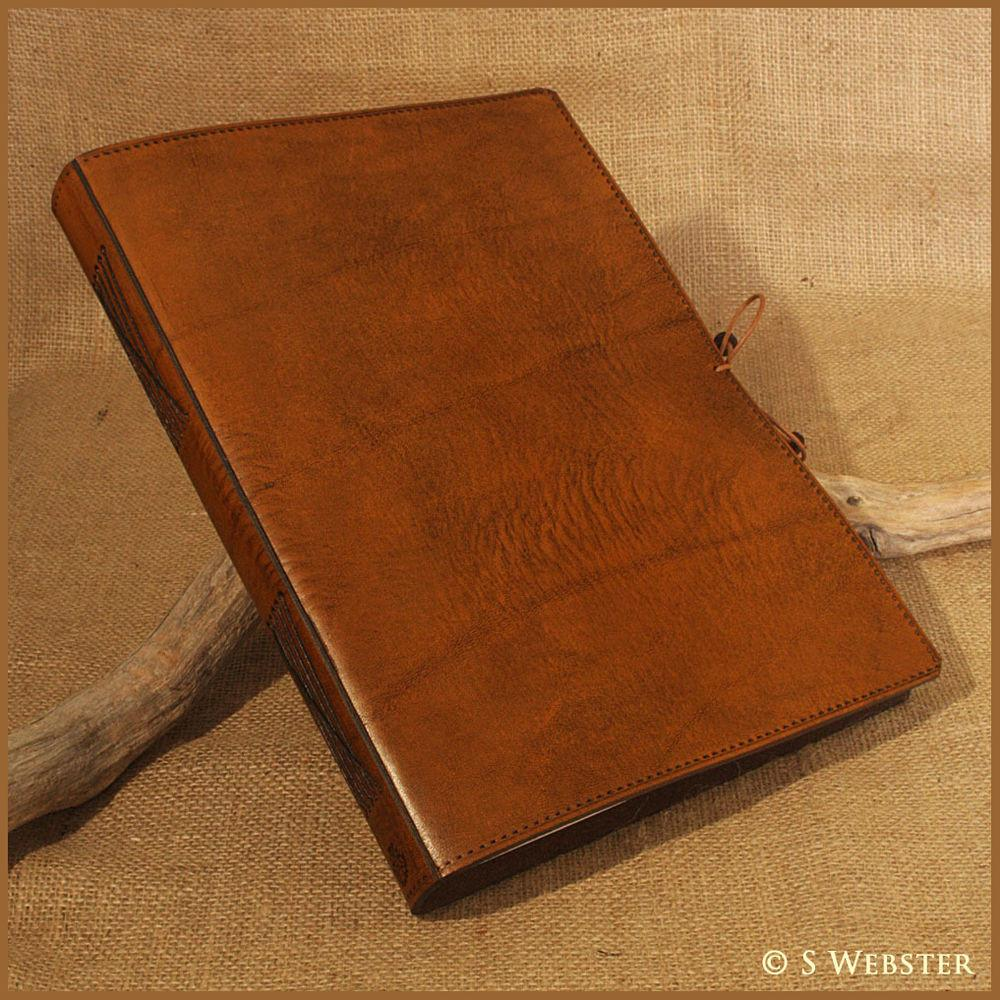 Classic Brown Leather Journal Hand Bound Notebook