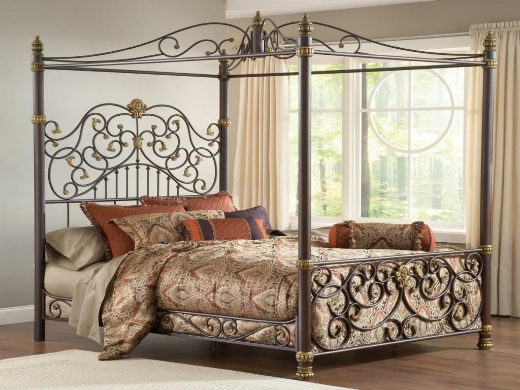 Classic Design Beds Canopy Bed Metal