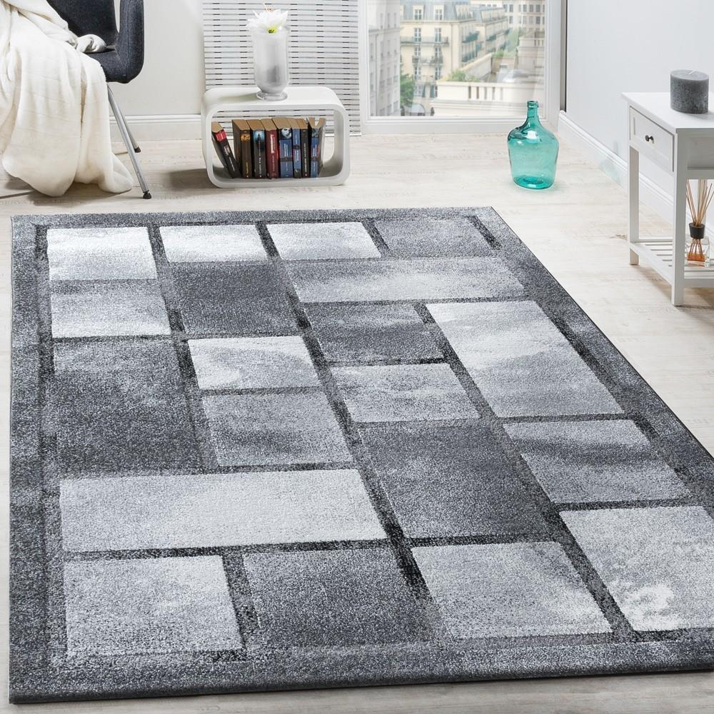 Classic Designer Rug High Deep Effect Short Pile Chequered