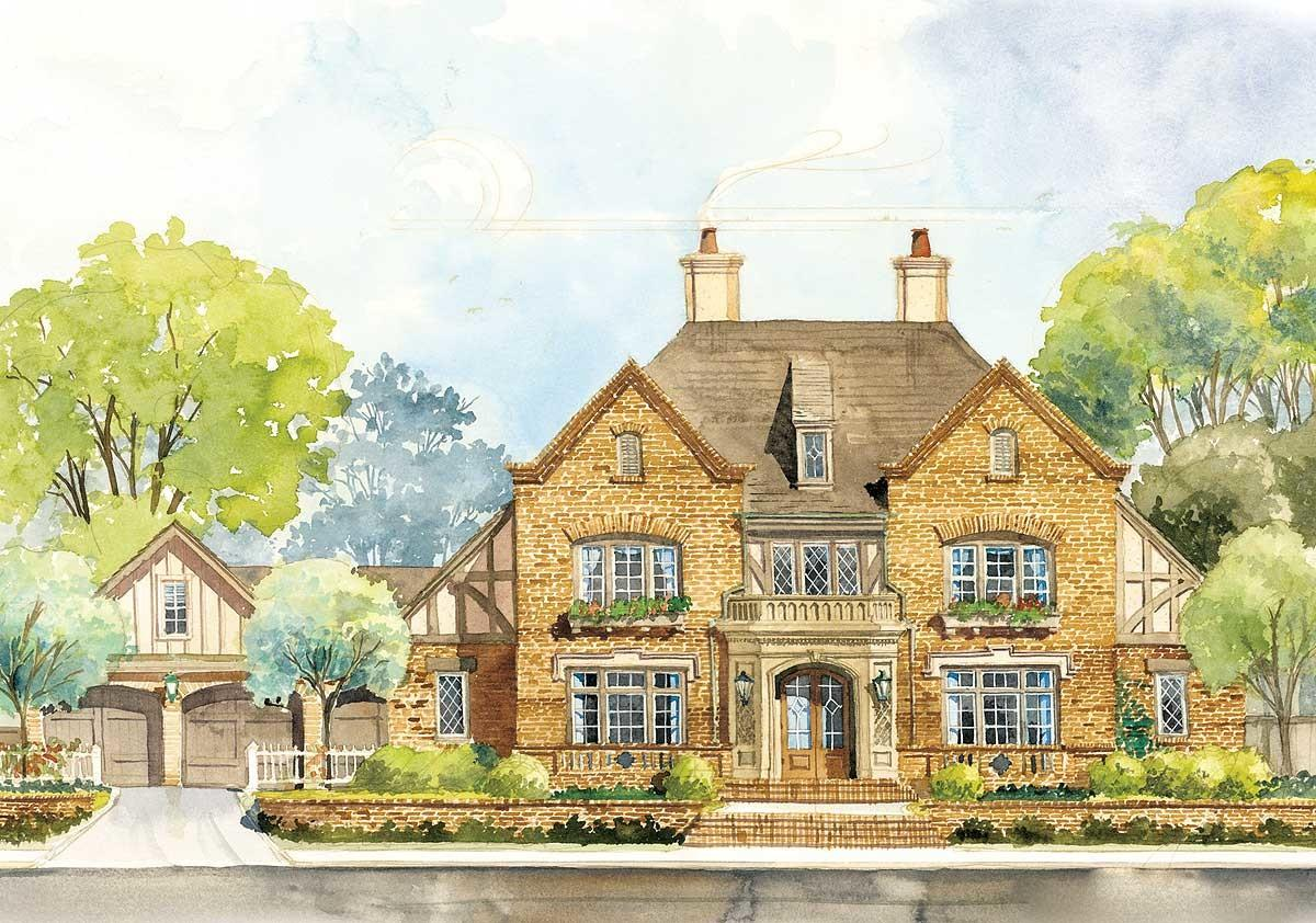 Classic English Country Home Plan Ad