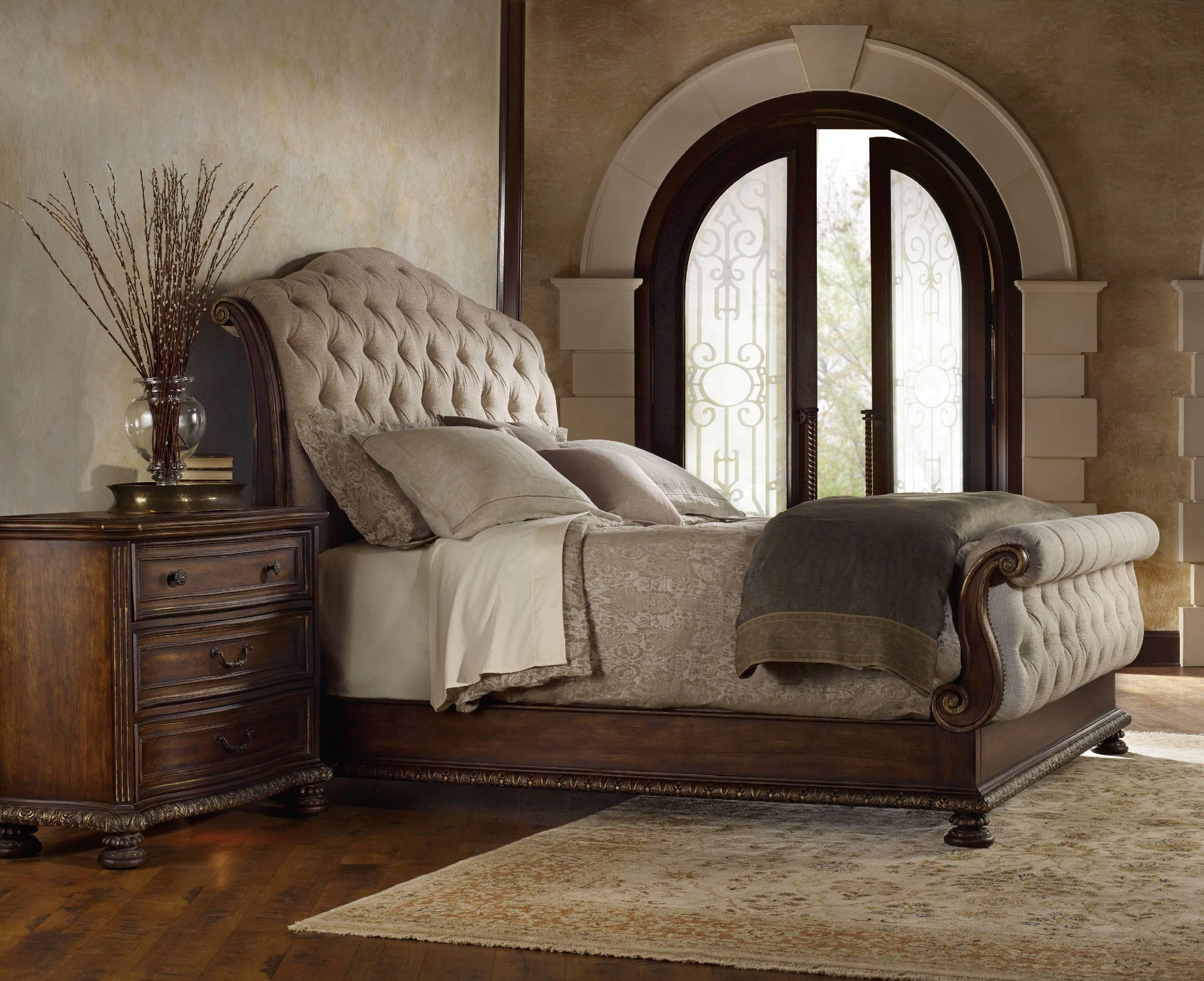Classic King Tufted Bed Headboard Also Barn Wooden