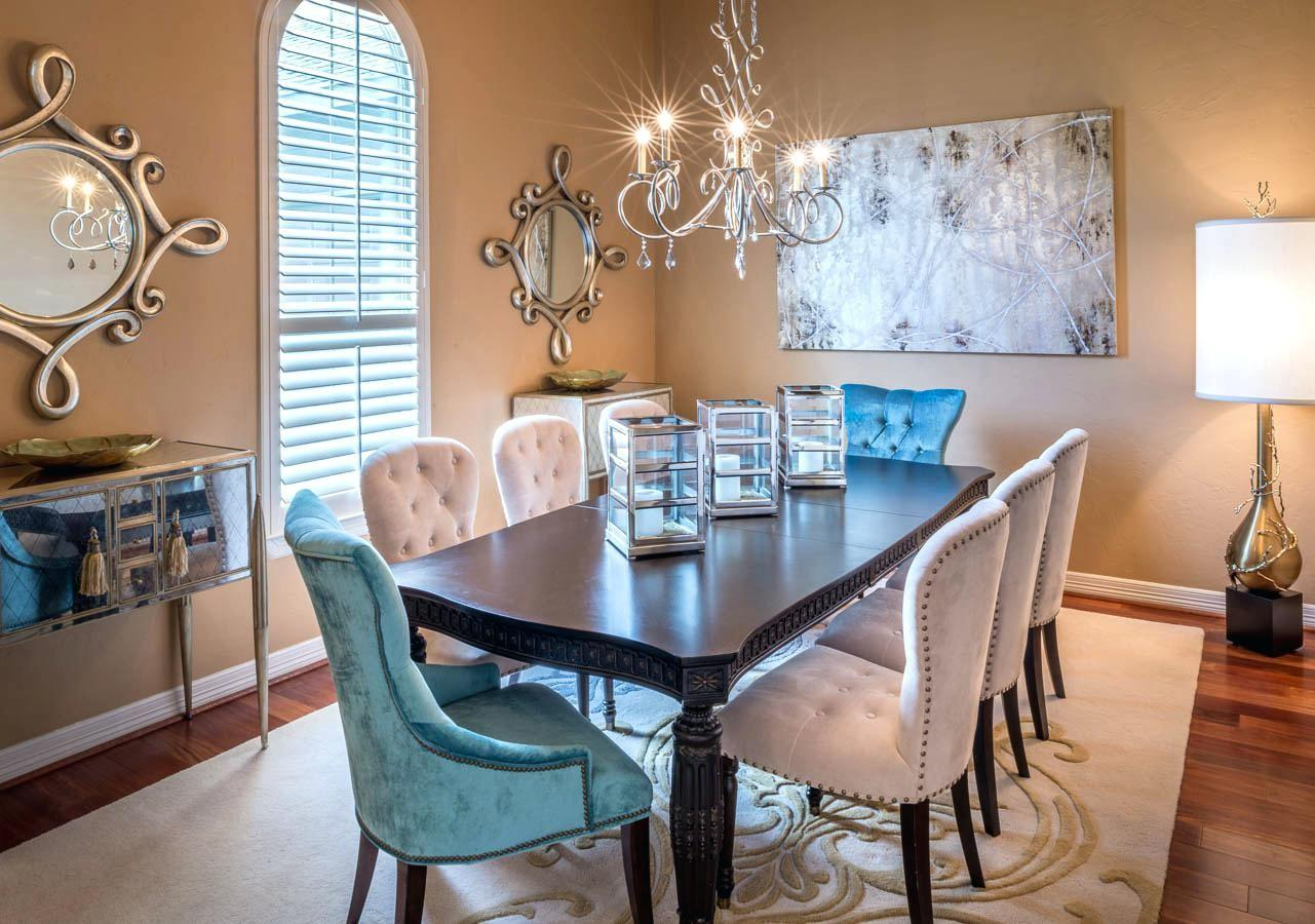 Classic Modern Dining Room Vintage Glamour Decor Rustic