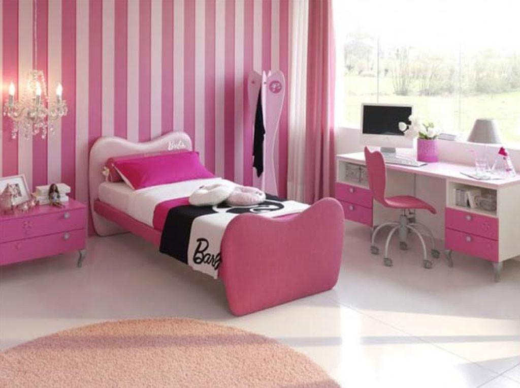 Classic Pink Bedroom Decorating Girls Ideas