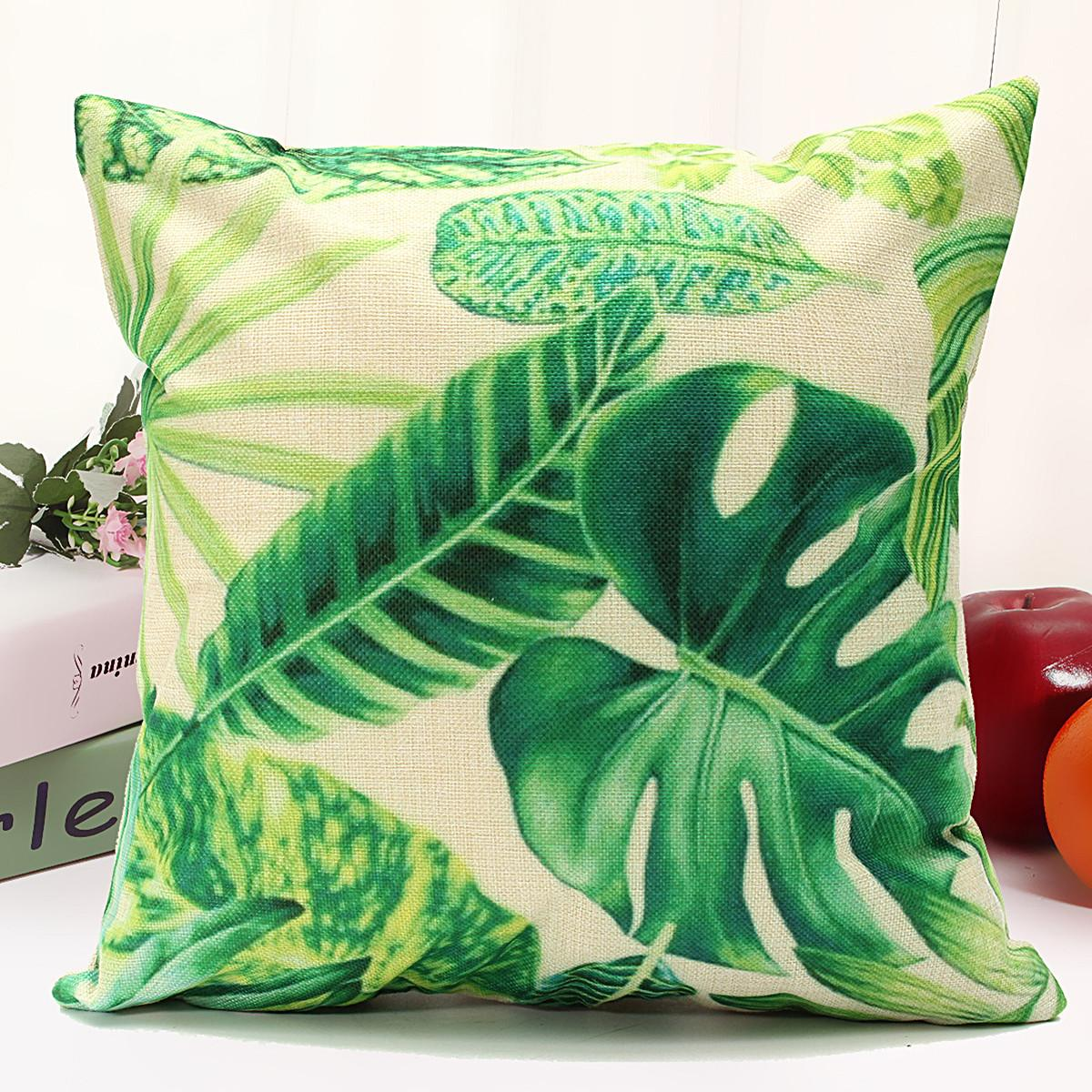 Classical Floral Tropical Plant Leaf Cushion Covers Waist
