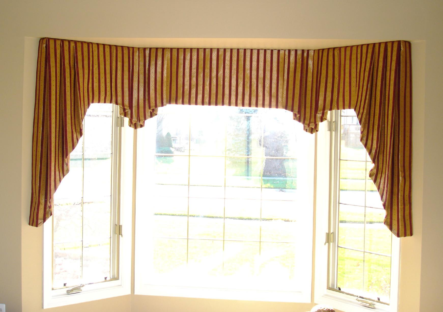 Classy Brown Fabric Homemade Over Valances Modern