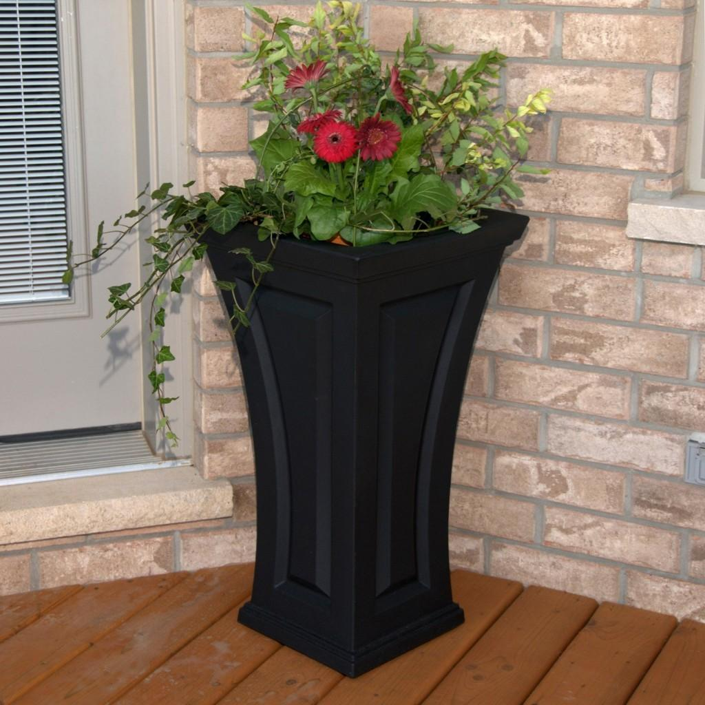 Classy Tall Outdoor Planters Next Front Door Mayne