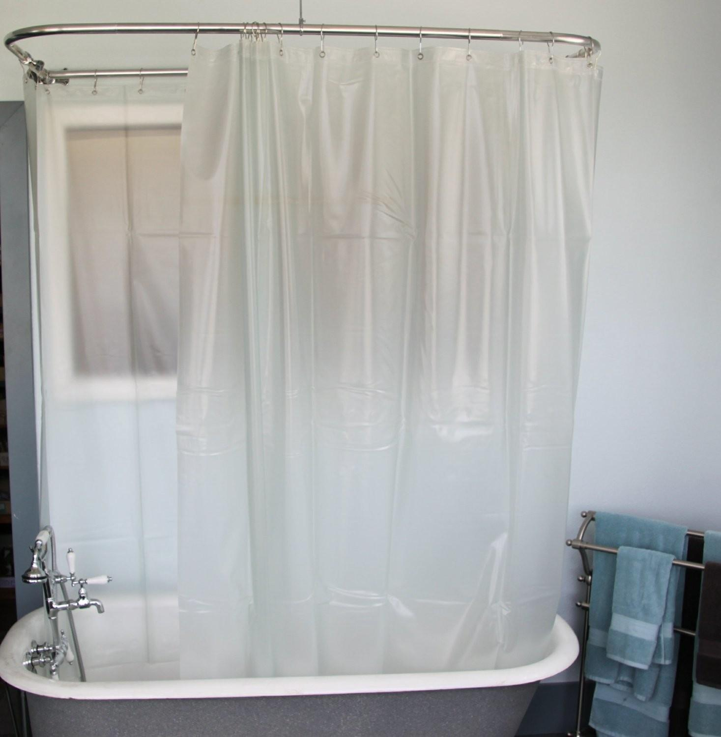 Clawfoot Tub Shower Curtain Rod Diy Menzilperde