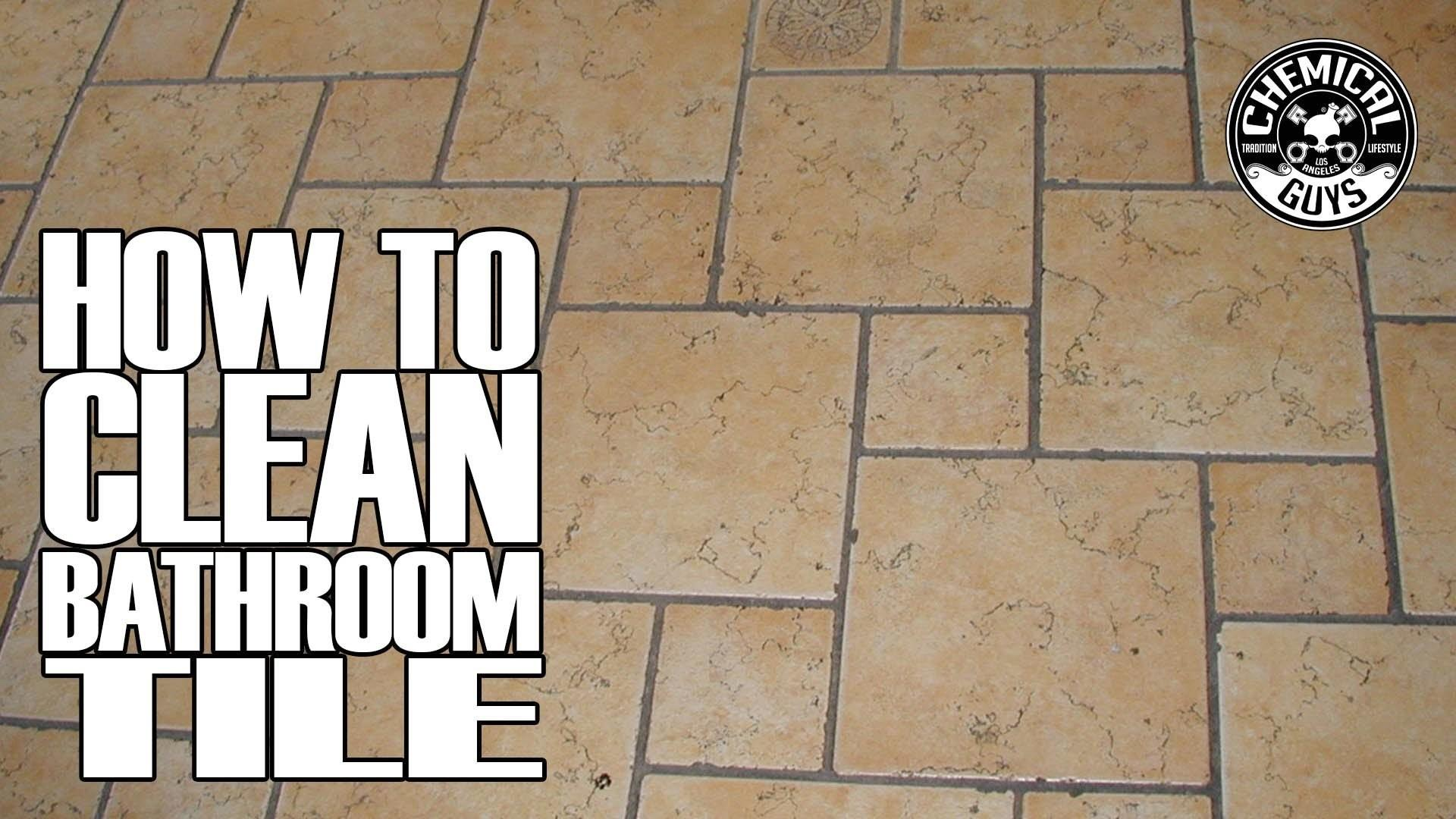 Clean Bathroom Tile Grout Chemical Guys Drill