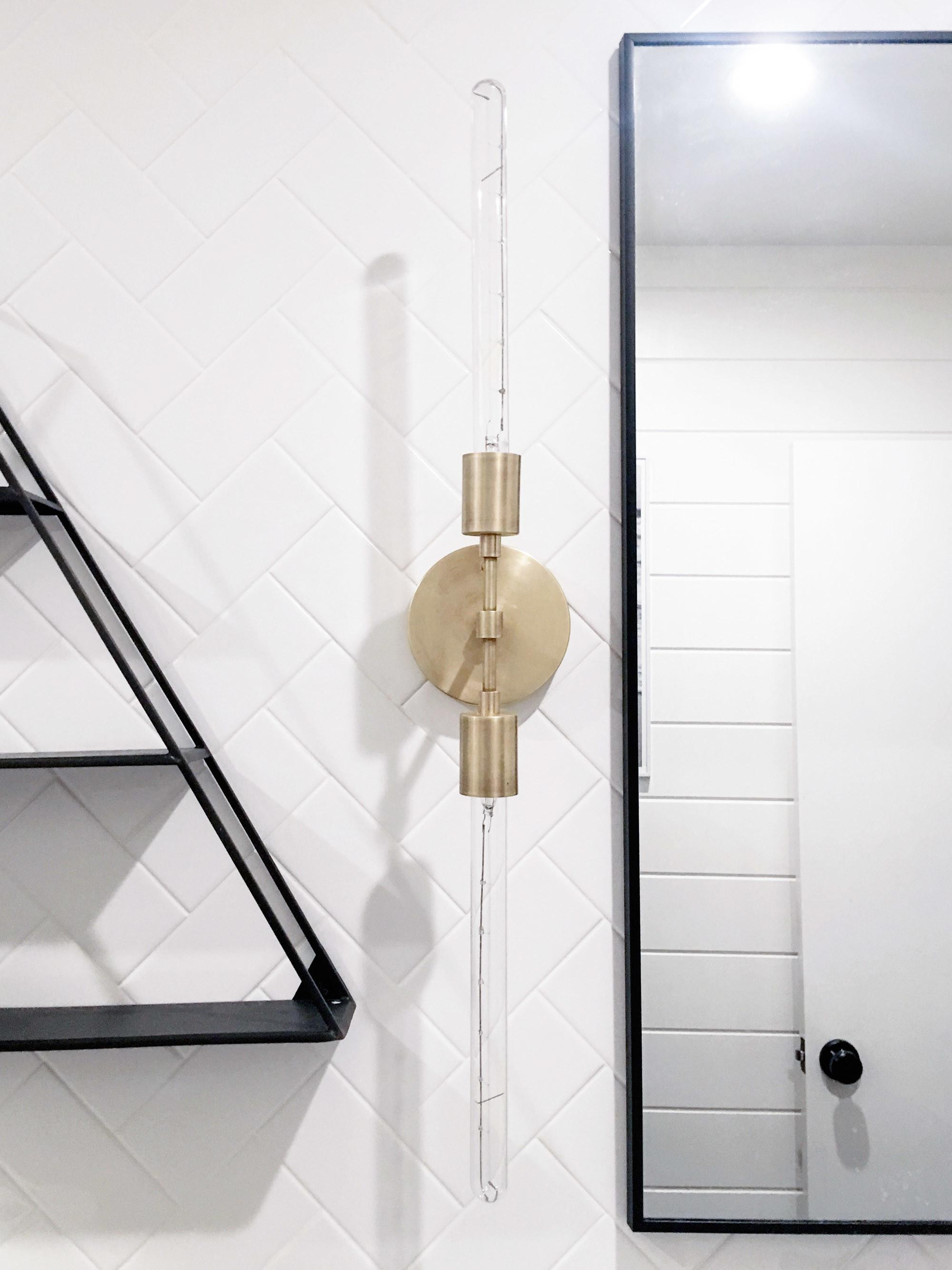 Clean Polished Brass Light Fixtures