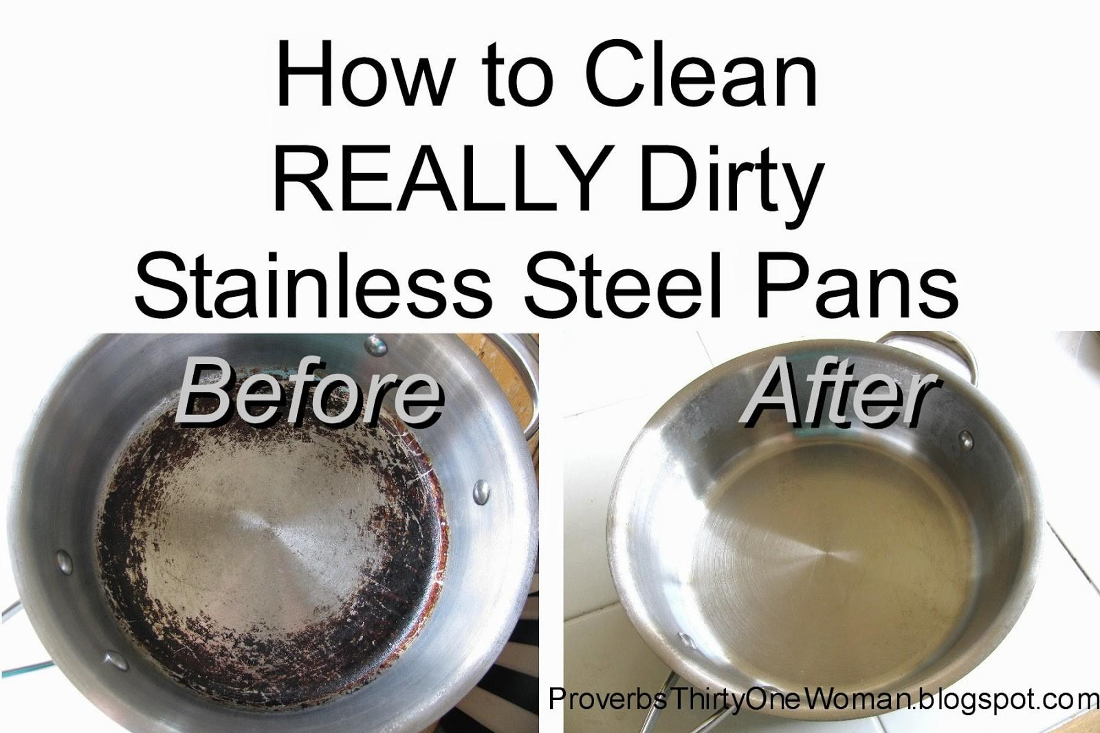 Clean Really Dirty Stainless Steel Pots Pans