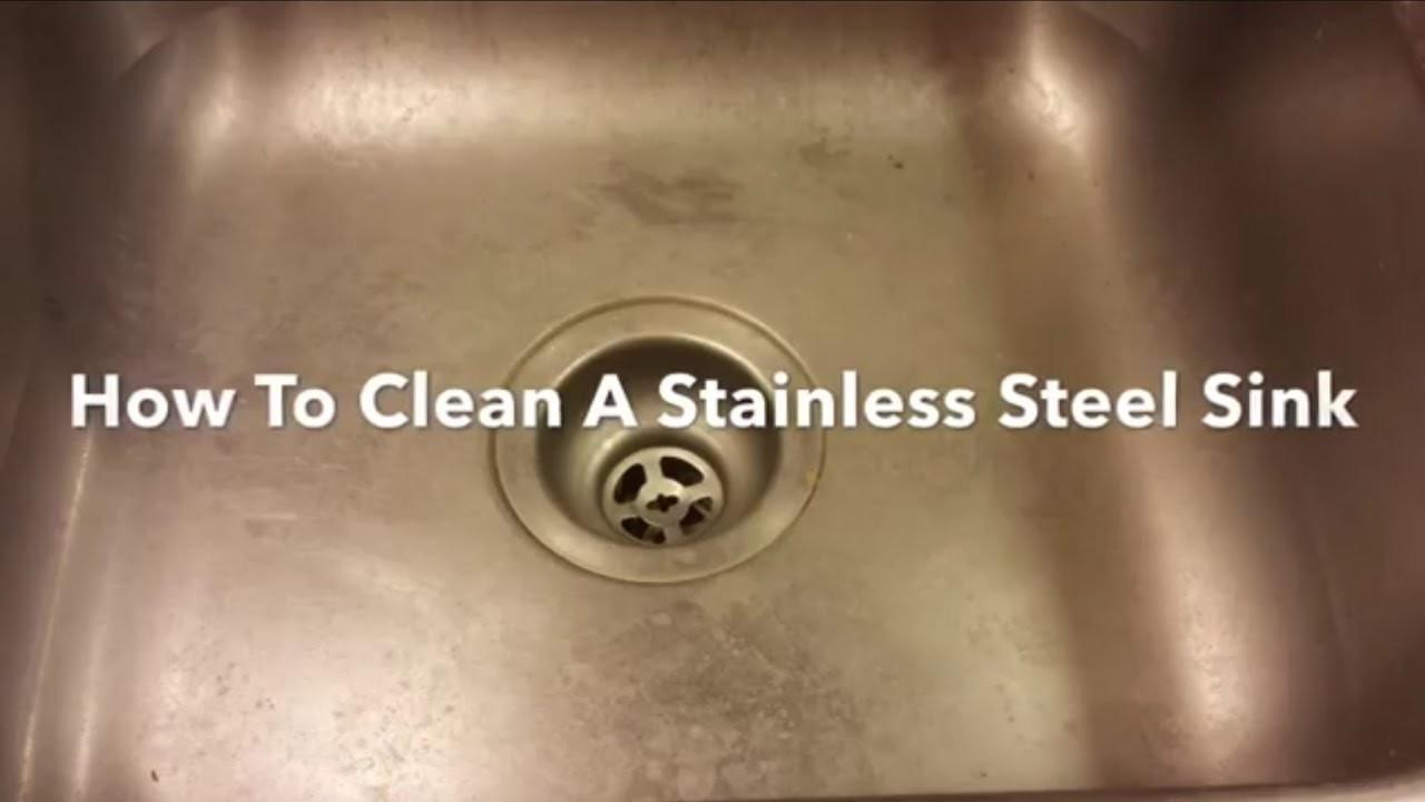 Clean Stainless Steel Sink Polish