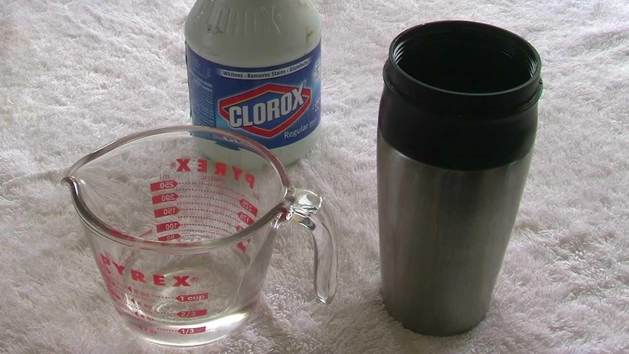 Clean Stainless Steel Travel Mug