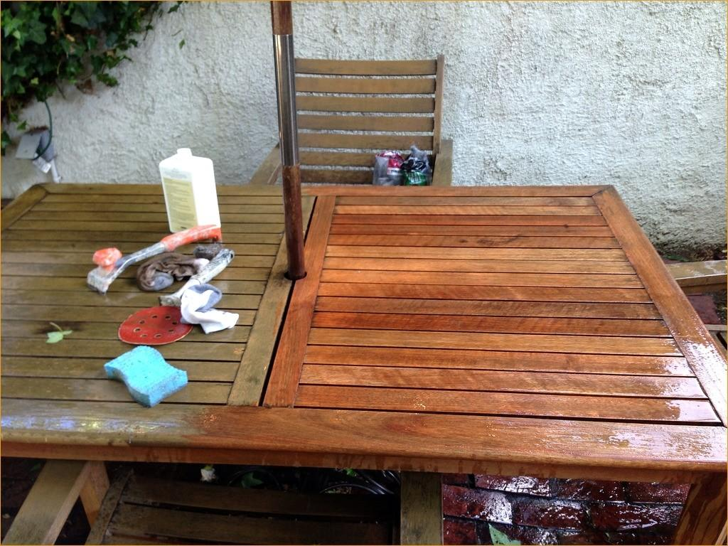 Clean Wood Patio Furniture