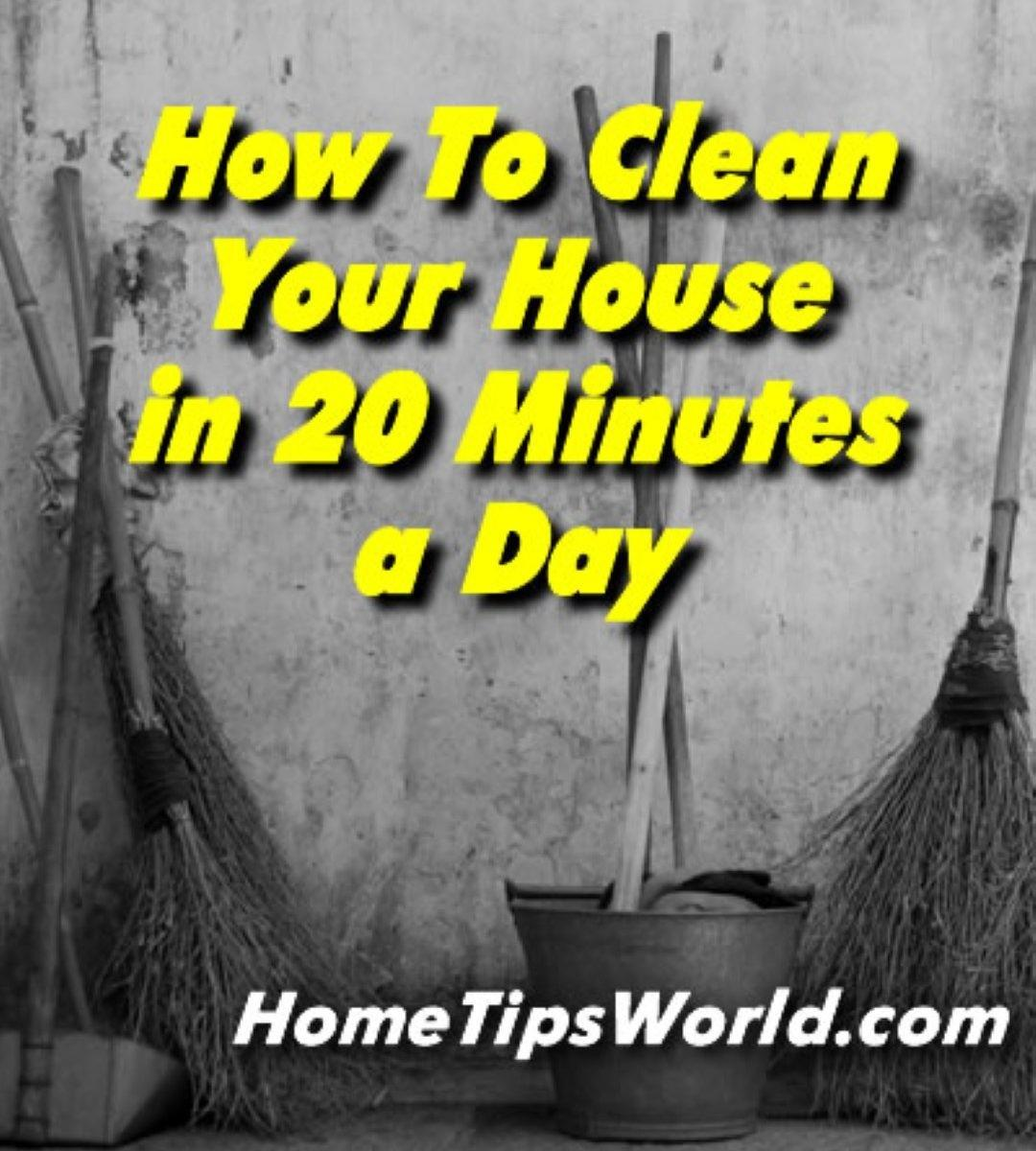 Clean Your House Minutes Day Days