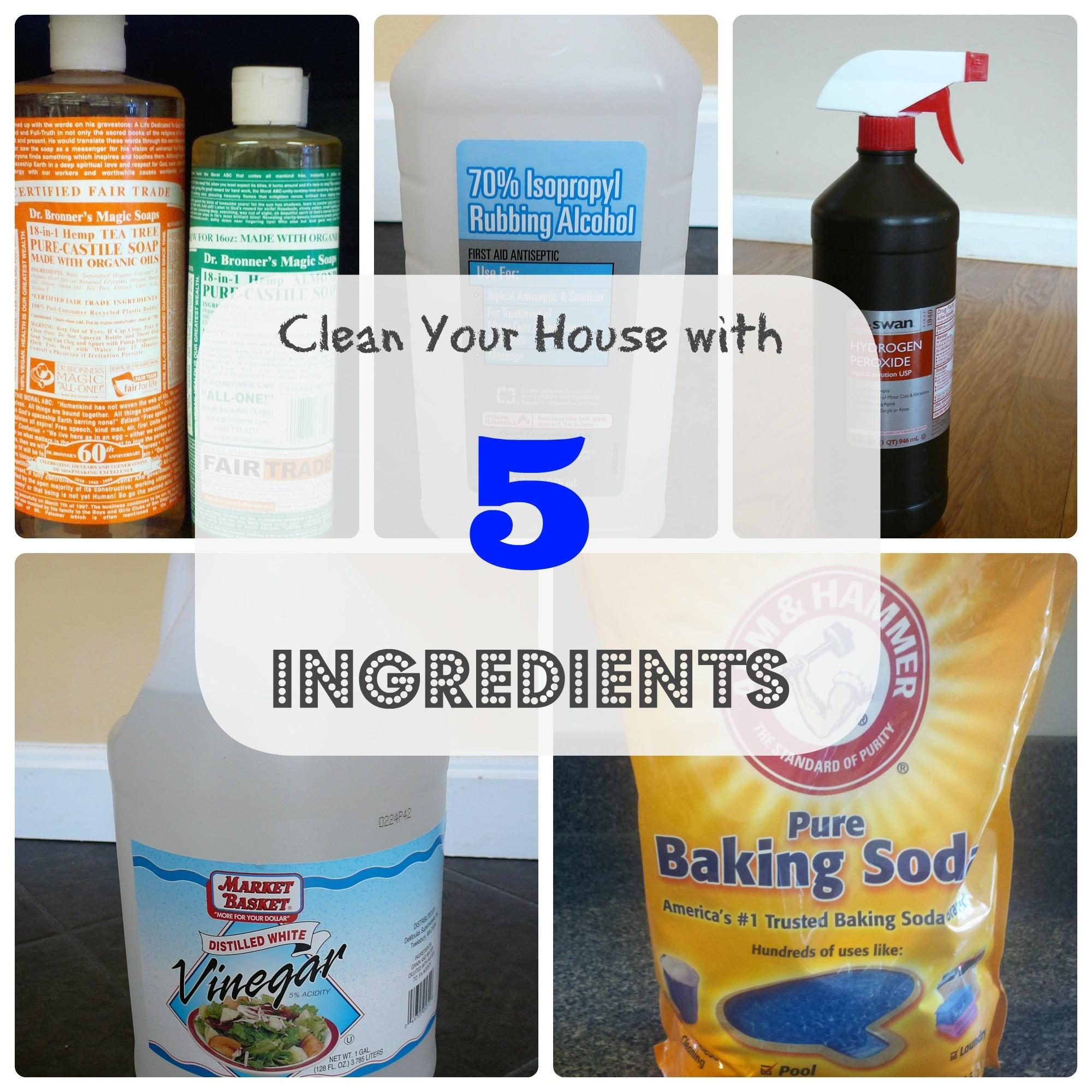 Clean Your House Only Ingredients Greening