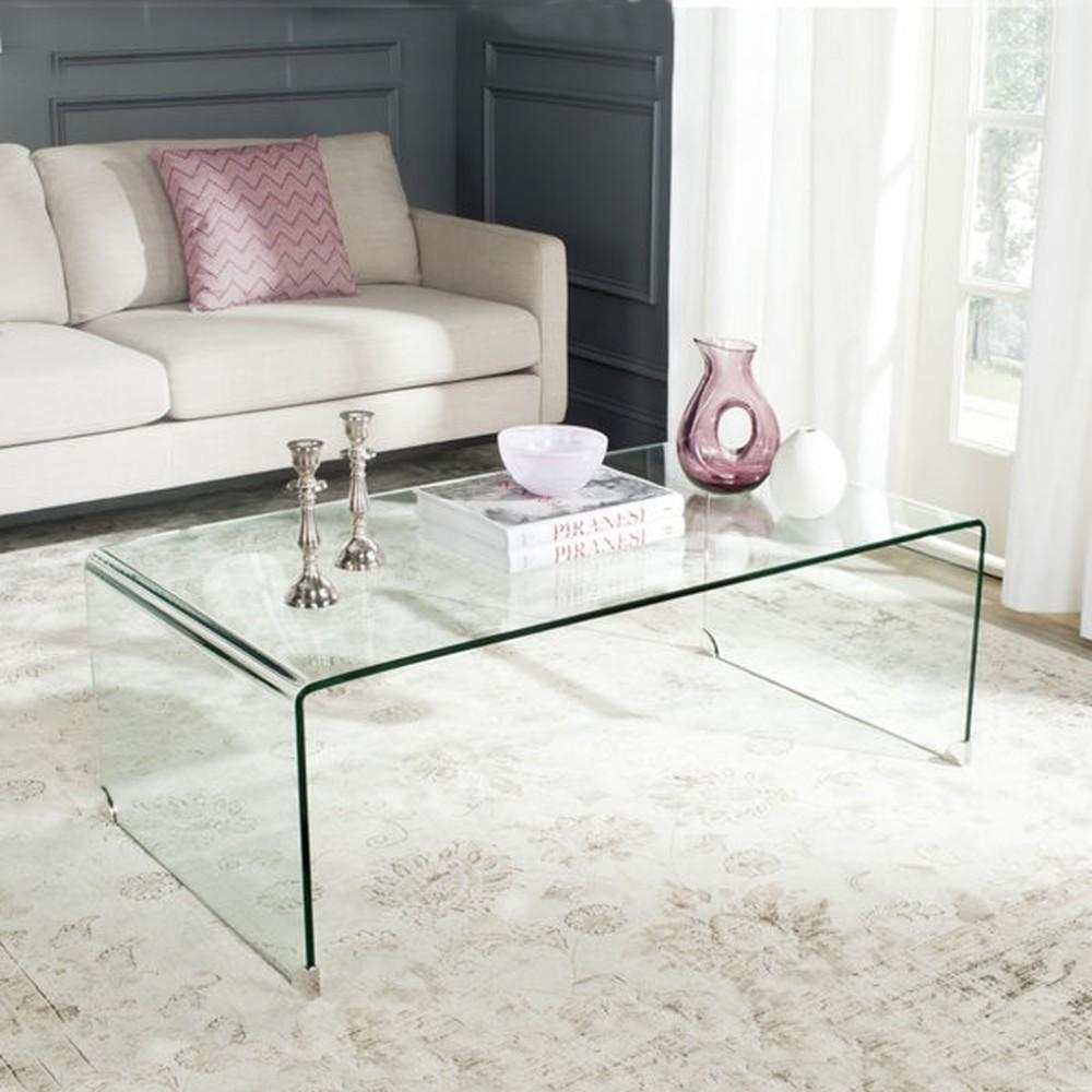 Clear Acrylic Waterfall Console Table Coffee Lucite