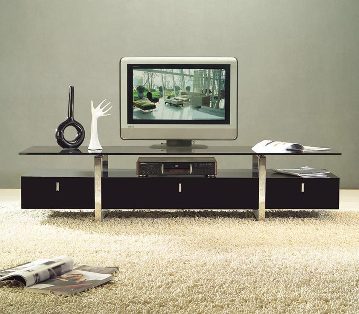 Clear Lined Design Contemporary Brown Color Stand