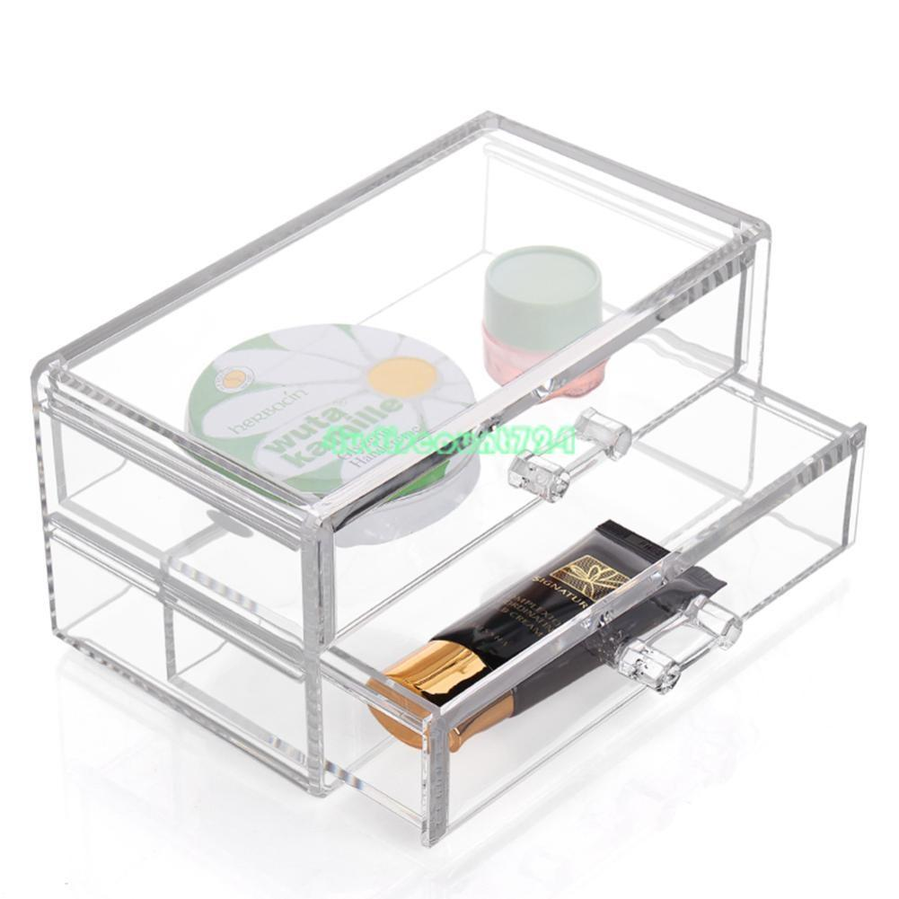 Clear Makeup Case Drawers Cosmetic Organizer Jewelry