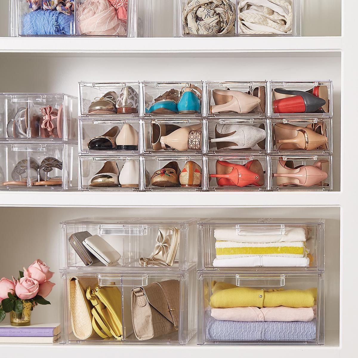 Clear Shoe Drawers Stackable Drawer