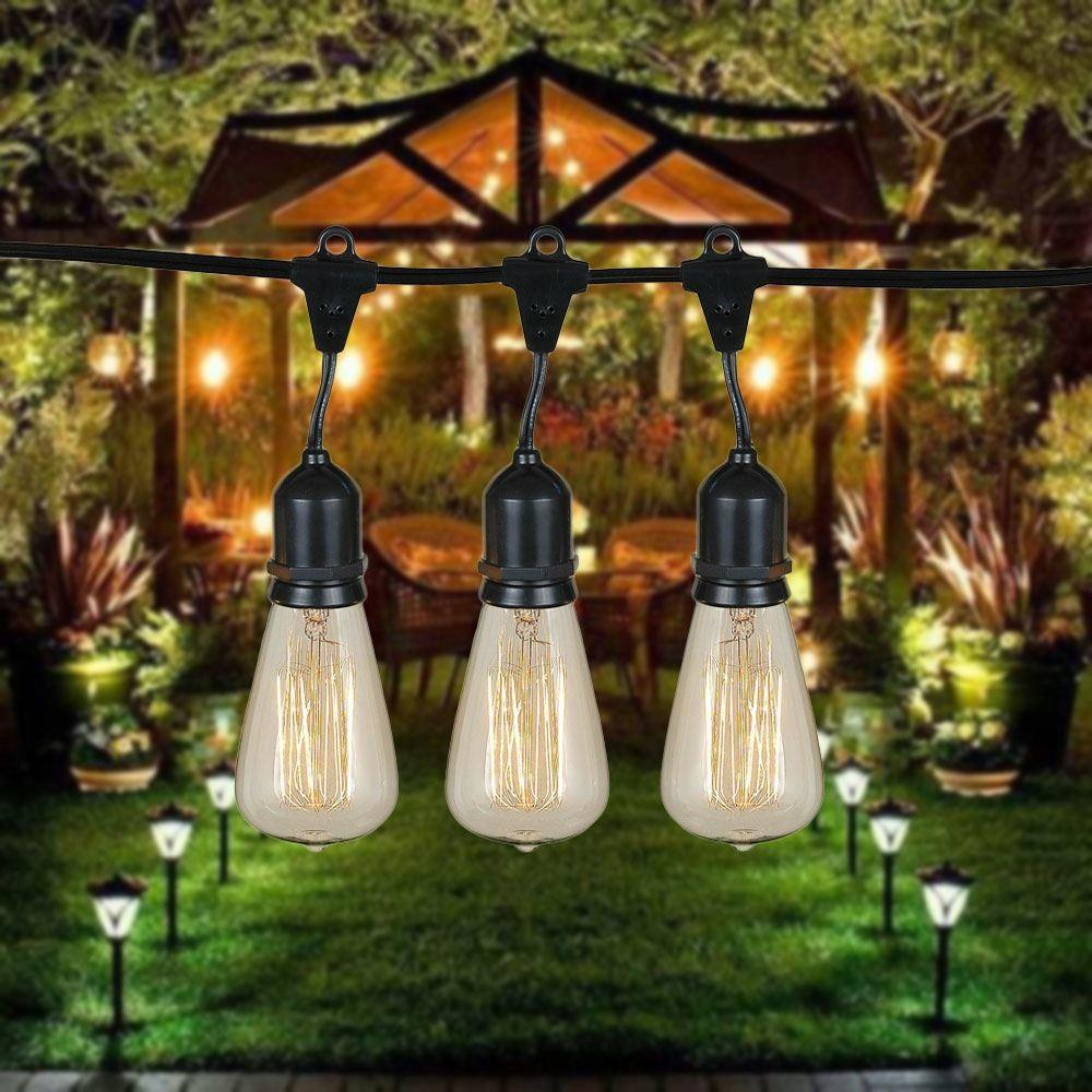 Clear Suspended St64 Heavy Duty Vintage String Light