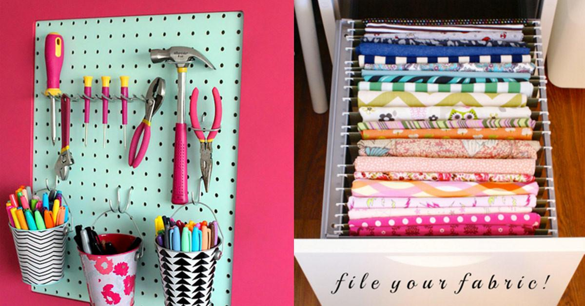 Clever Craft Room Organization Ideas
