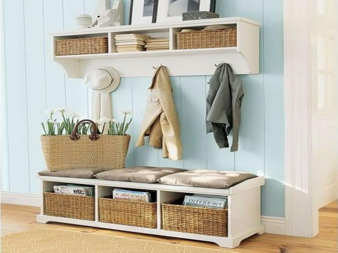 Clever Furniture Entryway Storage Bench Ideas Small