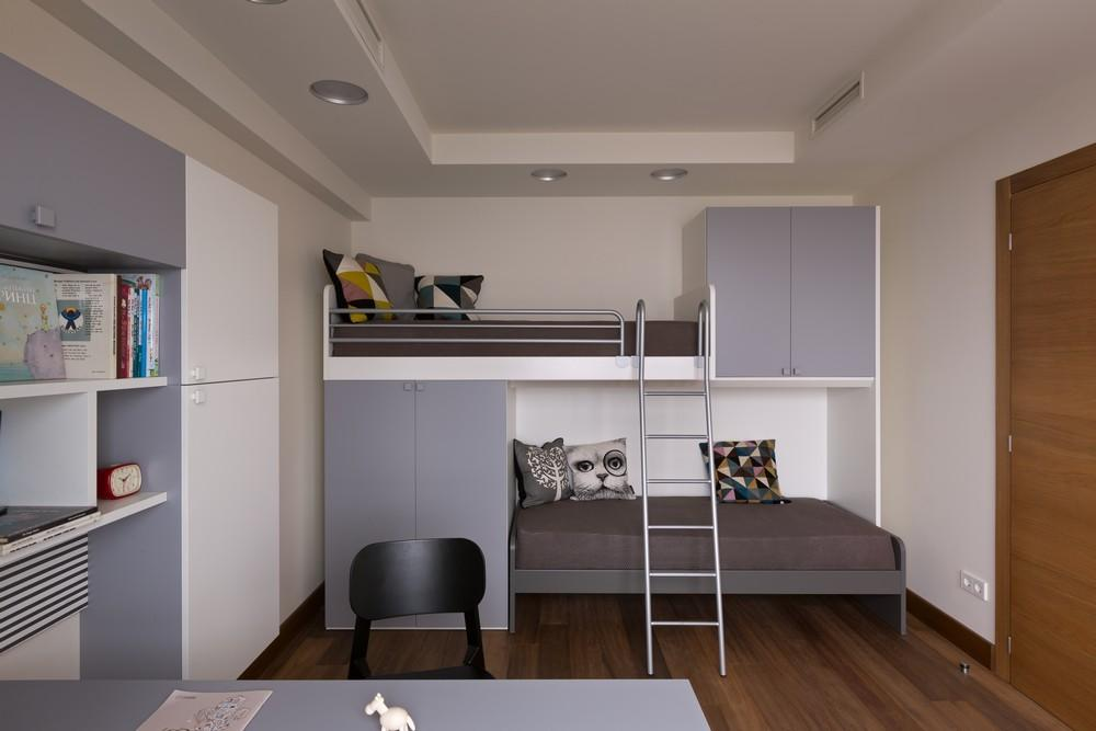 Clever Layout Exhibited Modern Day Apartment Kiev
