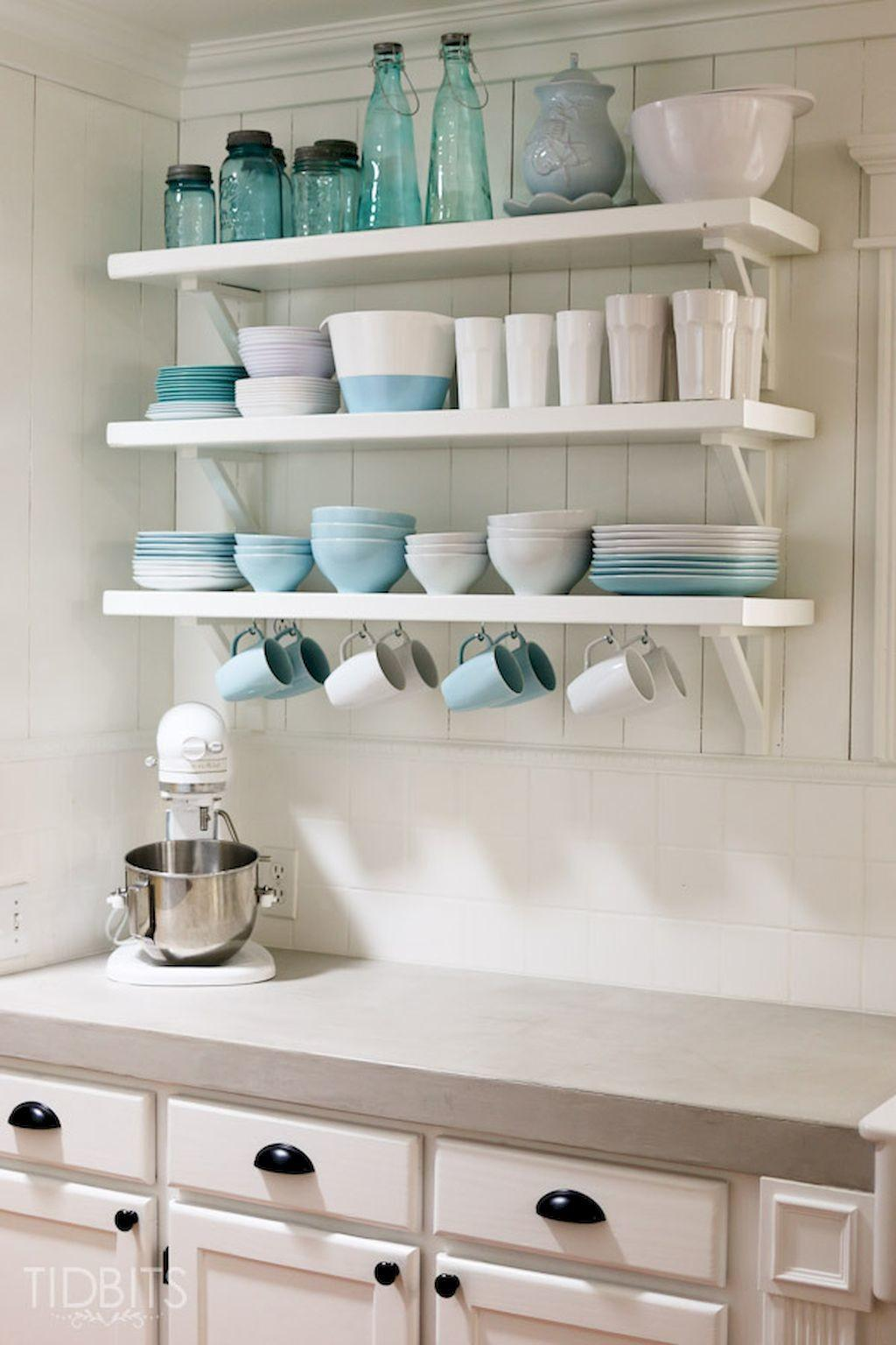 Clever Small Kitchen Remodel Open Shelves Ideas