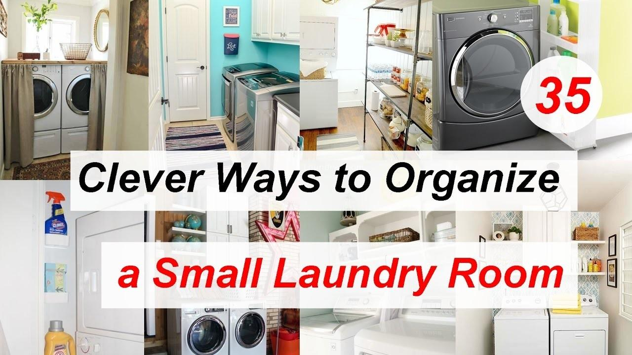 Clever Ways Organize Small Laundry Room