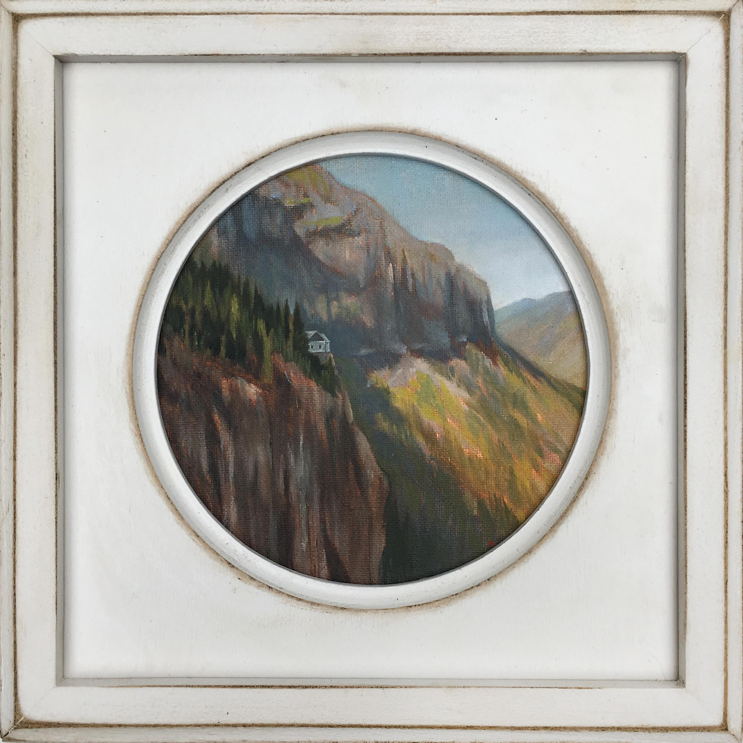 Cliff House Oil Painting Handmade Frame Innerspacism