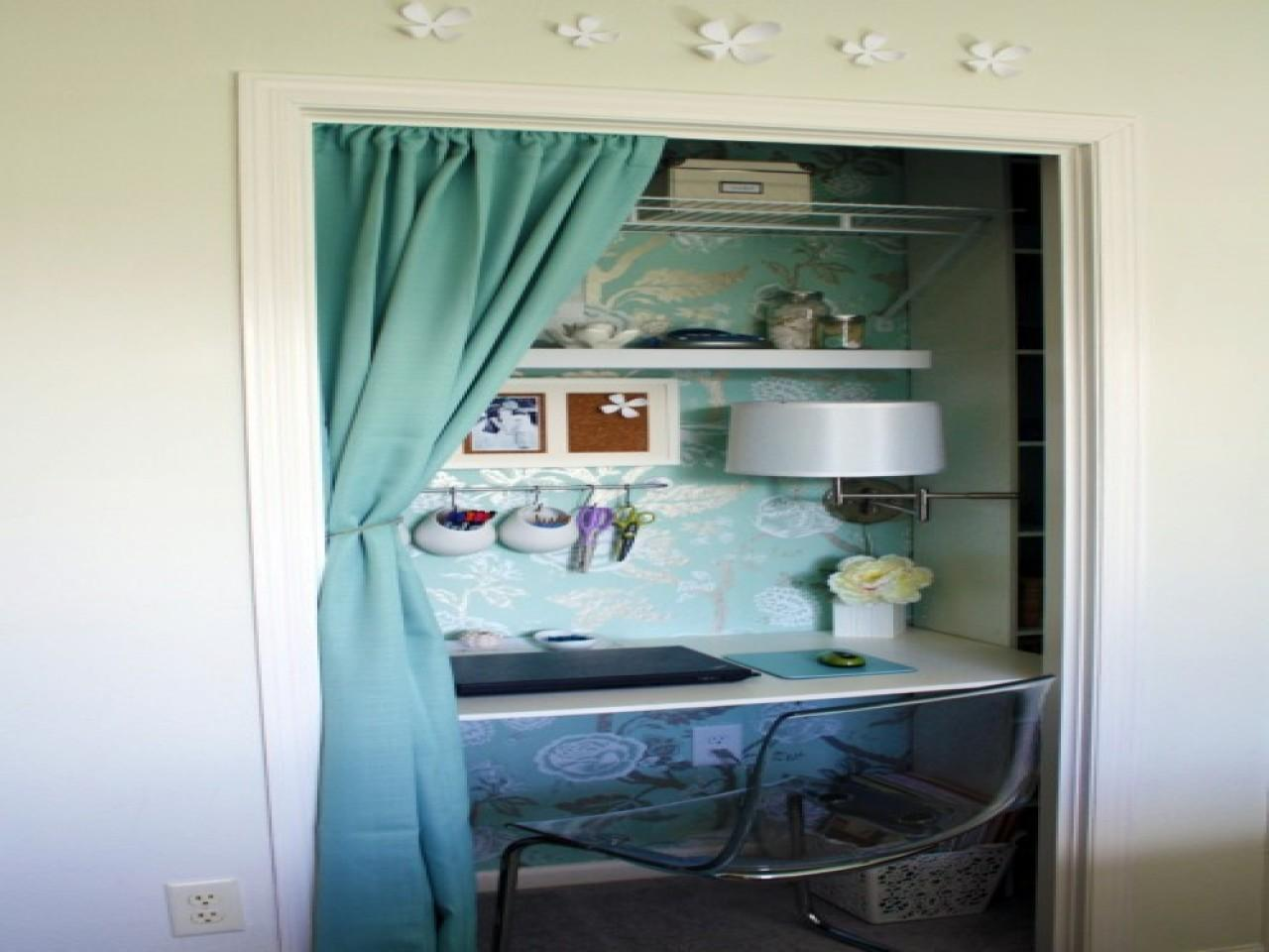 Closet Office Desk Nook Ideas